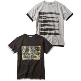 重ね着風半袖Tシャツ2枚組(男の子 子供服。ジュニア服) Tシャツ・カットソー