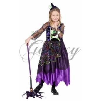 ハロウィン 魔女 小悪魔 デビル 魔法使い キッズ 子供用 キュート イベント パーティー 舞台 コスプレ衣装 ps3331