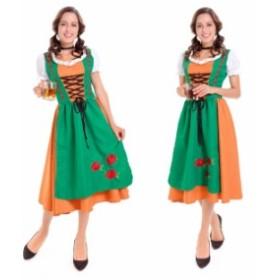ハロウィン ビールガール 民族衣装 ディアンドル チロリアン  ドイツ メイド パーティー イベント コスプレ衣装 ps3179