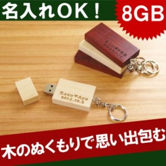 名入れ ギフト USBメモリ 名前入り おもしろ USBメモリー【 8GB 木製 USBメモリ 】 誕生日 プレゼント 男性 女性 ギフトラッピング ギフ