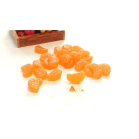 20個 約12mm 立体樹脂 みかん オレンジ系