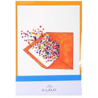 G.Lalo アンクル&プリュム カード封筒セット エンベロープ オレンジ gl60805