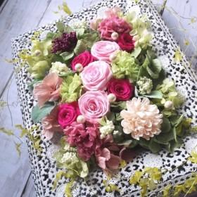 再販!ピンクローズの豪華なレースフレーム*結婚祝い・記念日・母の日のプレゼントに!【受注製作】