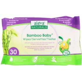 Bamboo Baby Wipes, 30 Wipes