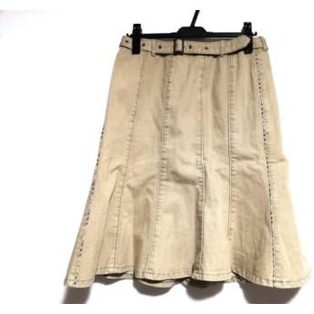 【中古】 バーバリーロンドン Burberry LONDON スカート サイズ13 L レディース ベージュ