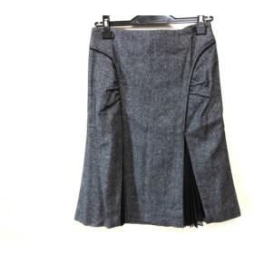 【中古】 ピンキー&ダイアン Pinky & Dianne スカート サイズ38 M レディース ダークグレー 黒 プリーツ