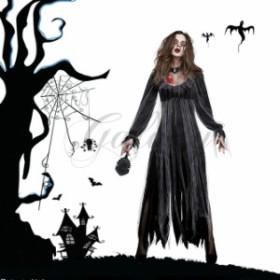 ハロウィン ゾンビ 鬼 花嫁 デビル 吸血鬼 幽霊 悪魔 ホラー 恐怖 ブラック ドレス コスプレ衣装 ps3558