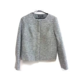 【中古】 インディビ INDIVI ジャケット サイズ38 M レディース 美品 グレー ジップアップ
