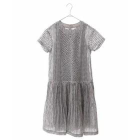 HIROKO BIS / ヒロコビス 【洗える】ヘリンボンチェックプリントドレス