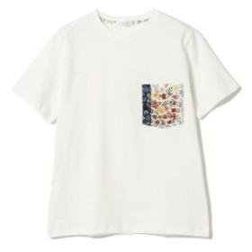 BEAMS LIGHTS / リバティプリント ポケット Tシャツ メンズ Tシャツ WHITE L