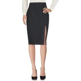 《送料無料》LIU JO レディース 7分丈スカート ブラック 40 ポリエステル 88% / ポリウレタン 12%