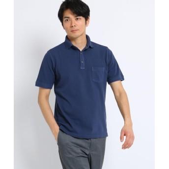 TAKEO KIKUCHI(タケオキクチ) 【PNJ】スノー加工製品染めポロシャツ
