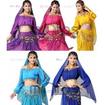 ベリーダンス 衣装 ベール 髪飾り アクセサリー 6色 hy0041