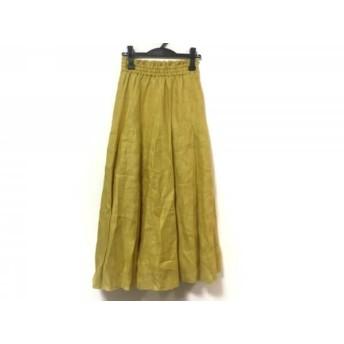 【中古】 ミラオーウェン Mila Owen ロングスカート サイズ0 XS レディース イエロー