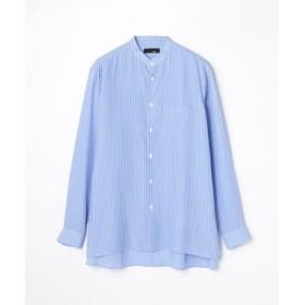 【40%OFF】 トゥモローランド キュプラストライプ バンドカラービッグシャツ メンズ 66ブルー系 F 【TOMORROWLAND】 【セール開催中】