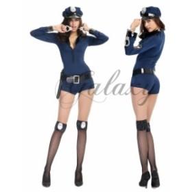 ハロウィン  婦人警官 ポリス 婦警 仮装 コスチューム パーティー イベント コスプレ衣装 ps1869(ps1869)
