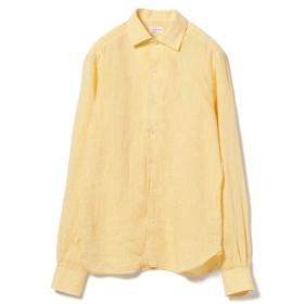 GUY ROVER / カラーリネン ワンピースカラーシャツ◎ メンズ カジュアルシャツ YELLOW/23 L