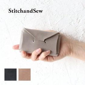 ステッチアンドソー カードケース カードホルダー 名刺入れ ロウ引きレザー カウレザー StitchandSew Card Case EWC103 スティッチアンドソー