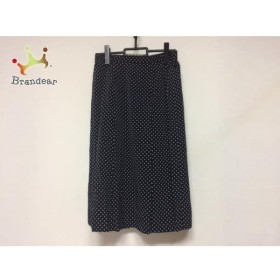 バーバリーズ Burberry's スカート サイズ13BR レディース 新品同様 黒×白 ドット柄 新着 20190731