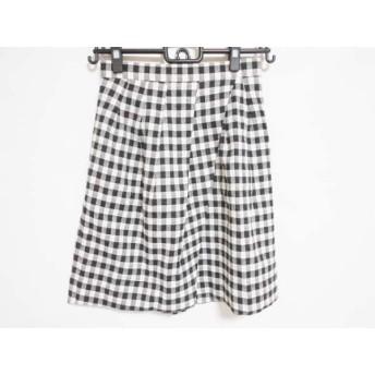 【中古】 アプワイザーリッシェ Apuweiser-riche スカート サイズ1 S レディース 白 黒 チェック柄