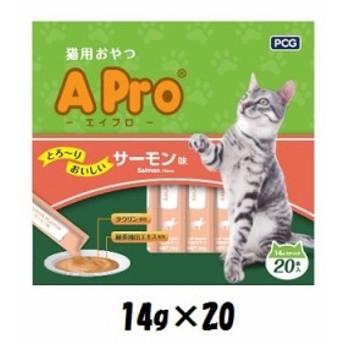 PCJ APro 猫のおやつ サーモン味 14g×20P
