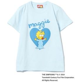 THE SIMPSONS / MAGGIE Tシャツ レディース Tシャツ LT. BLUE Small