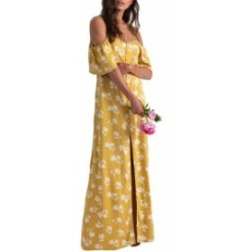 ビラボン レディース ワンピース トップス Billabong x Sincerely Jules Cold Shoulder Sway Maxi Dress Citrus