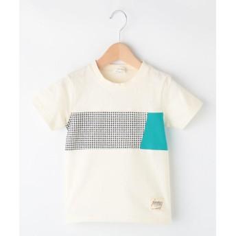 3can4on(Kids)(サンカンシオン(キッズ)) 【抗菌防臭】【160cmまで】パネル切替Tシャツ