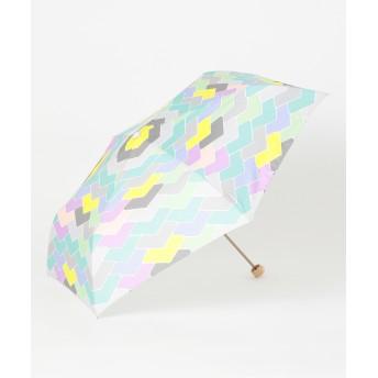 【オンワード】 MOONBAT(ムーンバット) estaa 折りたたみ傘 UV あまどい パープル F レディース 【送料無料】