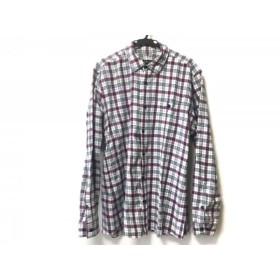 【中古】 バーバリーブラックレーベル 長袖シャツ サイズ3 L メンズ 白 ピンク ネイビー チェック柄