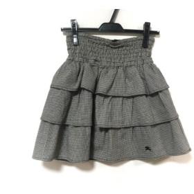 【中古】 バーバリーブルーレーベル Burberry Blue Label スカート サイズ36 S レディース アイボリー 黒