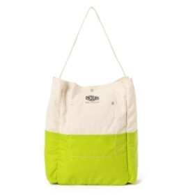 <UNISEX>BAG'n'NOUN / LINED ツールバッグ ミニ メンズ トートバッグ WHITE/LIME ONE SIZE