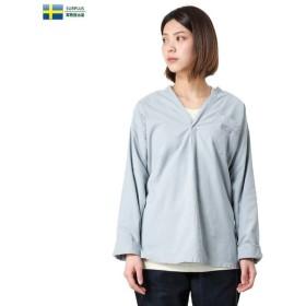 実物 新品 スウェーデン軍 パジャマシャツ LIGHT BLUE デッドストック レディース ミリタリー ブラウス 軍服 放出品 払い下げ品