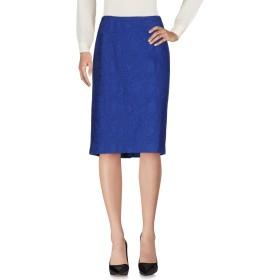 《期間限定 セール開催中》SEVERI DARLING レディース 7分丈スカート ブルー 50 コットン 97% / ポリウレタン 3%