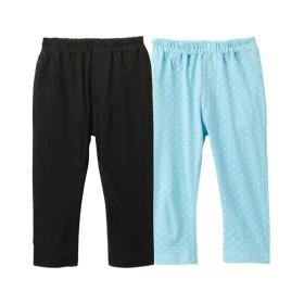 【接触冷感】綿100%カットソー7分丈パンツ2枚組(女の子 子供服) パンツ