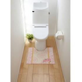 トイレマット トイレ マット トイレマットソフトローズ タテ55xヨコ60(代引き不可)【送料無料】