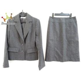 ナチュラルビューティー ベーシック スカートスーツ レディース 美品 ダークグレー   スペシャル特価 20190716