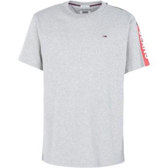 《期間限定 セール開催中》TOMMY JEANS メンズ T シャツ グレー S コットン 100% SLEEVE GRAPHIC TEE