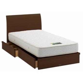 ASLEEP アスリープ ベッドフレーム ワイドダブルサイズ ロマノフ FS6HY5DC ミディアムブラウン 引出し付き アイシン精機 ベッド(代引不可