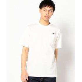 シップス LACOSTE: TH219E ヘビー カノコ ポケット Tシャツ メンズ ホワイト SMALL 【SHIPS】