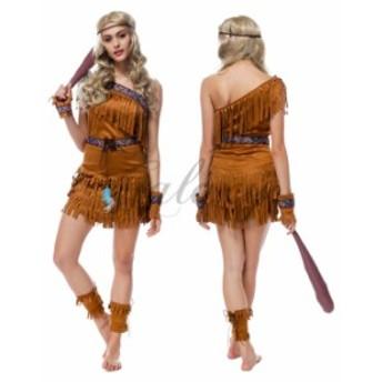 ハロウィン 民族衣装 インディアン 先住民 ハンター 戦士 仮装 セクシー コスプレ衣装 ps2760