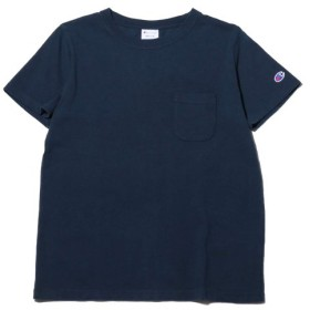 チャンピオン Champion Tシャツ ポケット Tシャツ (ネイビー) 19SP-I