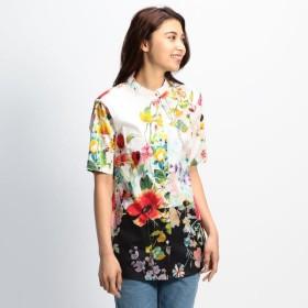 [マルイ]【セール】フラワープリントマオカラー半袖シャツ/ナラカミーチェ(NARACAMICIE)
