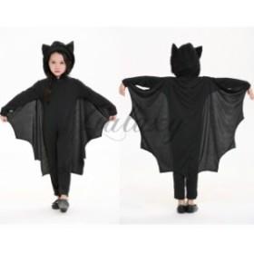 ハロウィン  キッズ 子供服 バットマン コウモリ オールインワン コスプレ衣装 ps2655