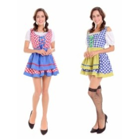 ハロウィン ビールガール 民族衣装 ディアンドル チロリアン ドイツ メイド 2色ワンピースイベント コスプレ衣装 ps3190