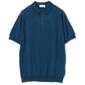 【ショップ限定商品】JOHN SMEDLEY / 30ゲージ ニットポロシャツ メンズ ポロシャツ INDIGO M