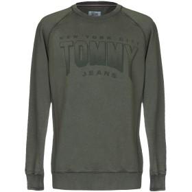 《期間限定 セール開催中》TOMMY JEANS メンズ スウェットシャツ ミリタリーグリーン XS コットン 100%