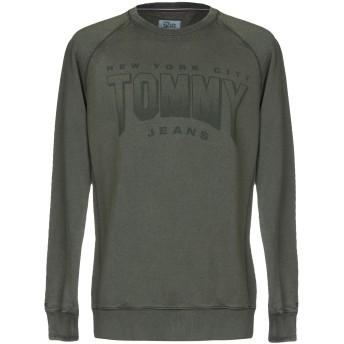 《期間限定セール開催中!》TOMMY JEANS メンズ スウェットシャツ ミリタリーグリーン XS コットン 100%