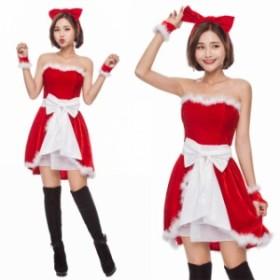 クリスマス サンタ XMAS サンタクロース 可愛い ワンピース ふわふわ  イベントパーティー コスプレ衣装 sdps1522