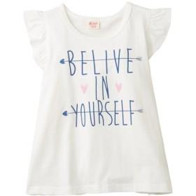 綿100%袖フリルTシャツ(女の子 子供服) Tシャツ・カットソー